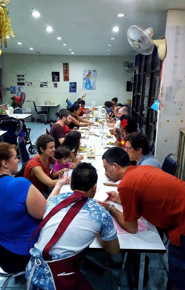 Burmese Dinner - We met some wonderful families that night!