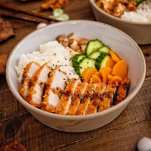 Meat Bento with Tonkatsu