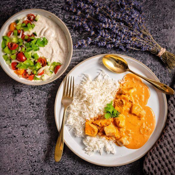 One Pot Butter Chicken with Indian Raita Salad