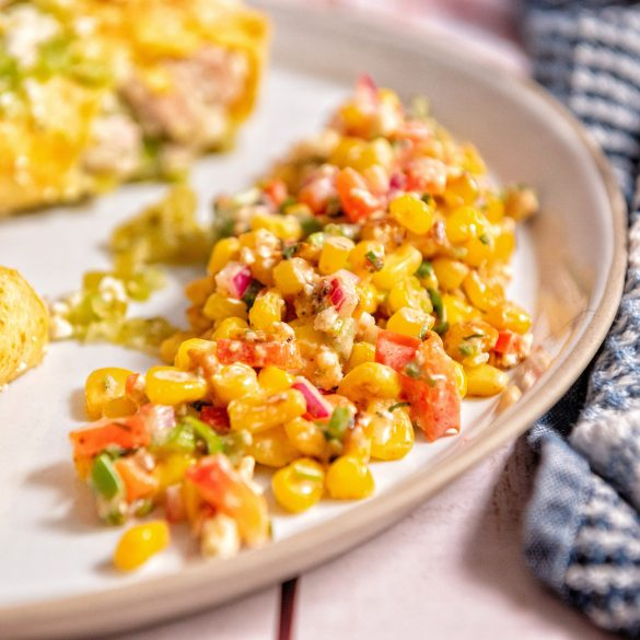 Chicken Enchiladas with corn salad