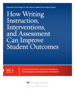 How writing instruction interventions and assessments can improve student outcomes