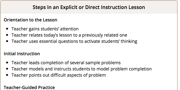 Explicit Math Instruction Middle School Matters Institute