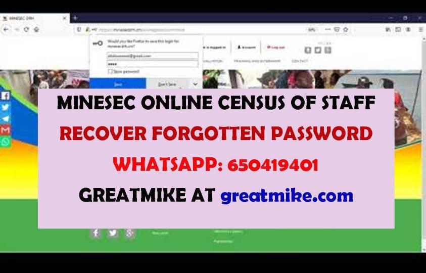recover forgotten password minesec online staff census