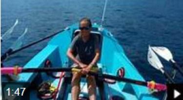 Shirley Thompson preparing for her solo Atlantic  crossing