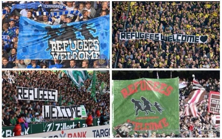 Dortmund FC BANNER welcomes refugees