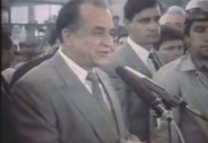 În după-amiaza zilei de 15 iunie 1990, la Romexpo, Ion Iliescu le-a mulţumit minerilor pentru acţiunea lor. Foto: Captură YouTube