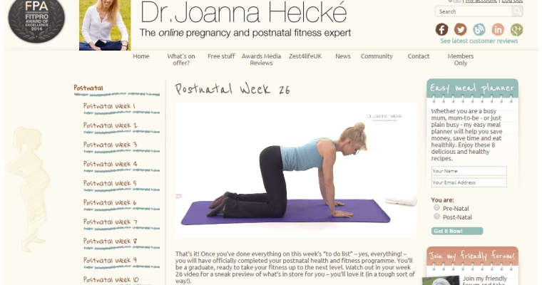 Review: Postnatal Pilates with Dr Joanna Helcke