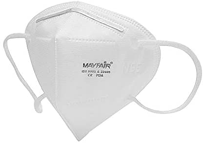 Mayfair N95 5 Layer with Nose Pin, Made in India (Pack of 5, Earloop) Face Care