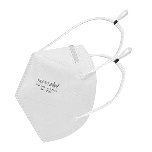 Mayfair N95 5 Layer with Nose Pin, Made in India (Headband Mask, Item Quantity 5) Beauty Care