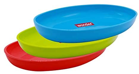Wonder Sigma Snacker Microwave Safe Bowl Set, Blue Red Green Color, 500 ml, Set of 3 Bowls, Made in India Kitchen Care