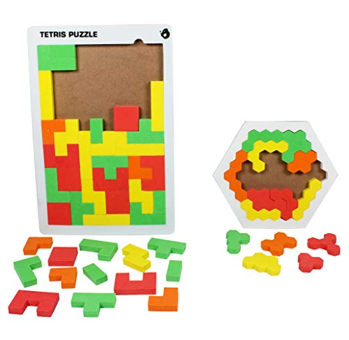 ButterflyEduFields Tetris Puzzles for Kids Age 4 5 6 Tangram Jigsaw Puzzles for Kids Brain Games Toys Foam-Made Brain Teaser Birthday Gifts for Kids Made in India Toys Toys