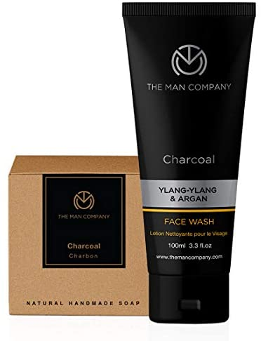 The Man Company Charcoal Refresher (Charcoal Face Wash and charcoal Soap Bar) Set of 2 Made in India Bathroom Care