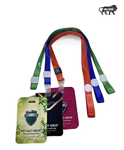 House Of Sensation Disinfectant anti virus shut out card with lanyard purifies air within 1 meter virus card |45 days validity pack of 20|Made In India Health Care