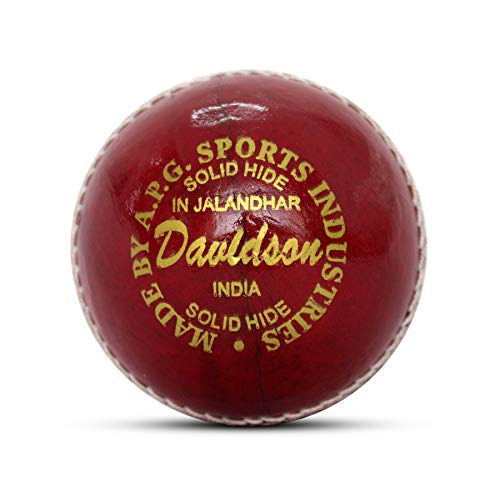 APG Davidson Leather Cricket Ball Men Size Hand Stitched Weight 5.5oz – Made in India Toys