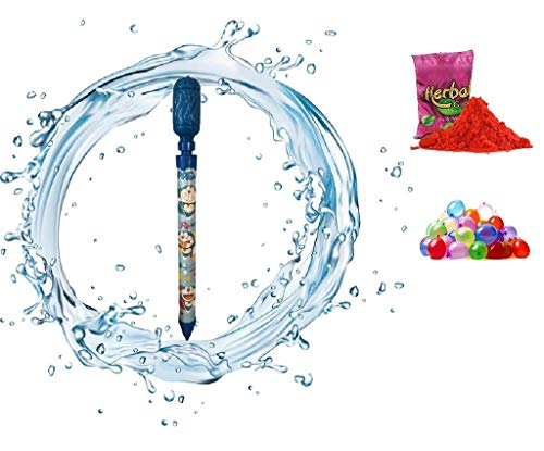 ToyJungle Holi Pichkari Water Gun with High ure Designer Cartoon Tank Backpack for Holi Celebration for KidsMini Tank Free 100 Water baloons Plus Gulal Pouch – Made In India Toys