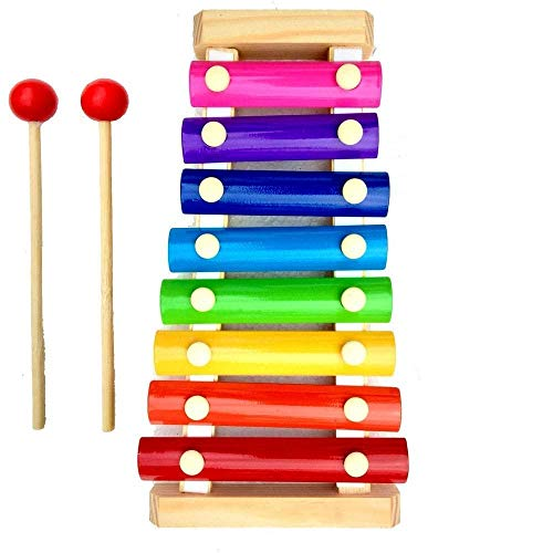 Chanson Toys Wooden Xylophone Musical Toy for Children with 8 Note (Big Size)- Multi Color High Quality Non-Toxic Made and Designed in India Toys