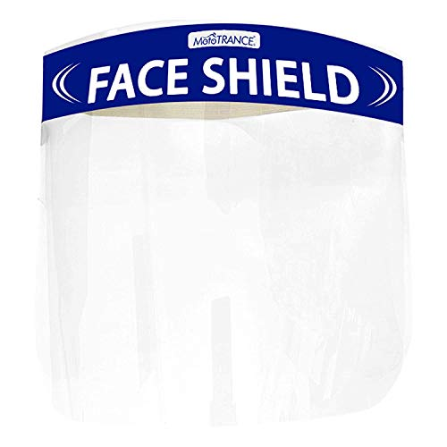 Mototrance Anti-Splash Face Shield with Adjustable Elastic Strap Protective Facial Cover Transparent Full Face Visor with Eye & Head Protection-Made in India Health Care