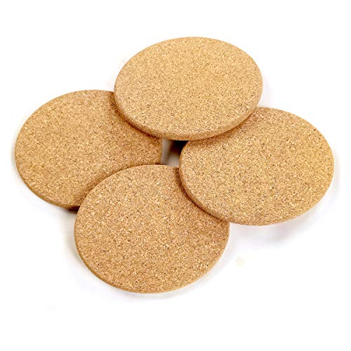 Windup Cork Trivets for Hot Dishes, Hot Pad (Natural) – Export Quality 7inch – Set of 4 – Thick & Absorbent, Non Slippery, Heat Resistant, Eco-Friendly, Made in India Furniture