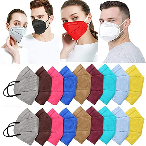 Ace N King N95/KN95 Anti Pollution Dust Face Mask for Kids,Adults,Men & Women Outdoor Protection with 5 Layer Filtration Made in India – Pack of 40 (Mix Colors) Health Care