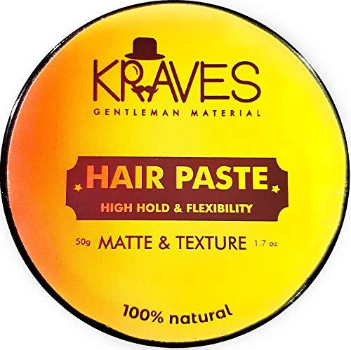 Kraves Hair Paste 100% Natural Hair Styling Paste Hair wax men For All Day Hold With Matte Finish Texture And Volume(Hair Wax 50g) , Made in India Hair Care