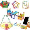 iChoice™ Straw Building Blocks for Kids 120+ Pcs Building Blocks Toy, Early Educational Building Blocks Set for Kids/ Boys/Girls, Made in India Building Block Game Toys