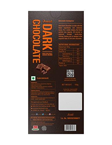 Amul Dark Chocolate, 150g Sweets
