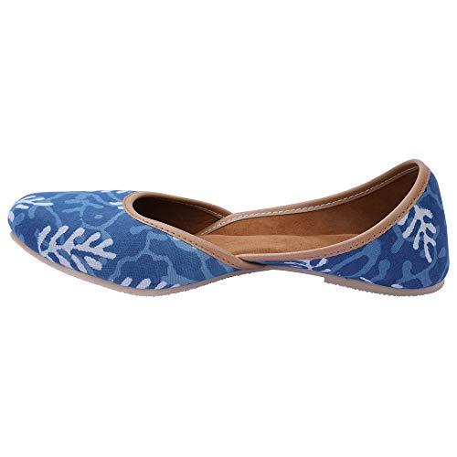 Jutti Dekho Presents Rajasthani Designer Jaipuri Fabric Ethnic Mojari Jutti Bellies for Women and Girls Footwear