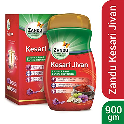 Zandu Kesari Jivan – Ayurvedic Immunity Booster for Adults and Elders, Builds Energy, Strength & Stamina, Strengthens Bones, Enriched Revitalizer, 900g Health Care