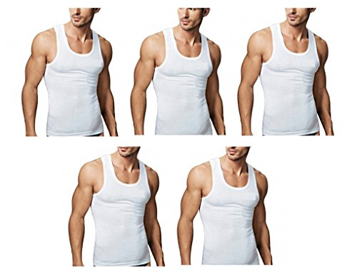 Amul Comfy Men's White Cotton Sleeveless vest pack of 6 (Size - 85)