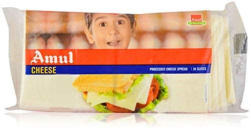 Amul Processed Cheese Slices, 400 Gm. (20 Slices)