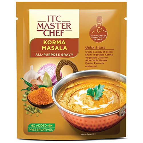 ITC Master Chef Korma Masala All-Purpose Gravy 200g, Ready to Cook Indian Base Masala Curry Paste, Easy to Cook