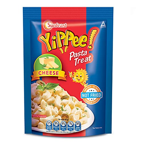 Sunfeast YiPPee! Pasta Treat | Cheese and Soft Suji,source of protein | Cheese | 65g pack