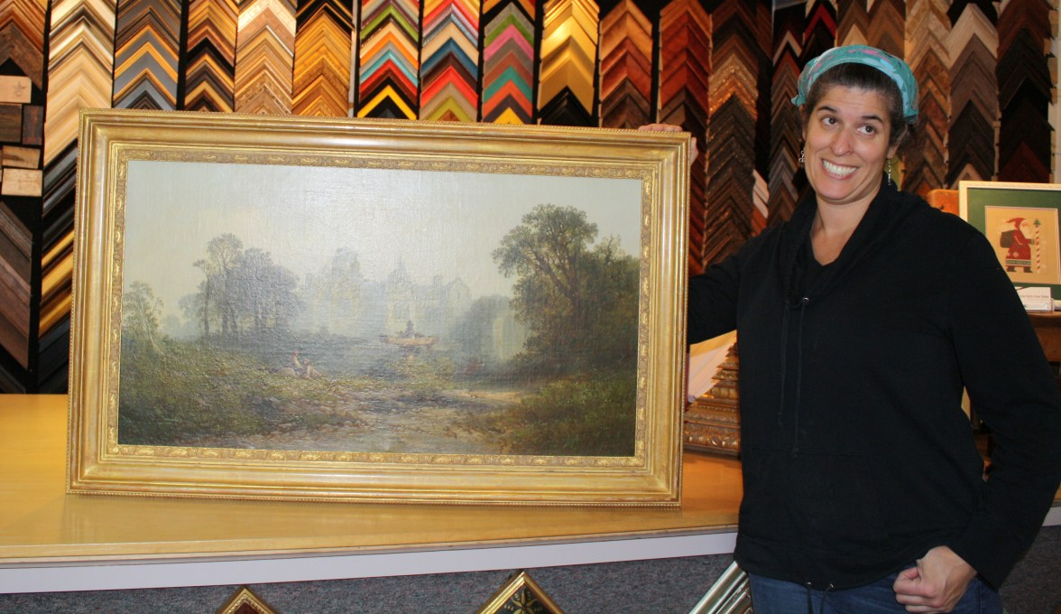 My cheesy pose with a fancy painting