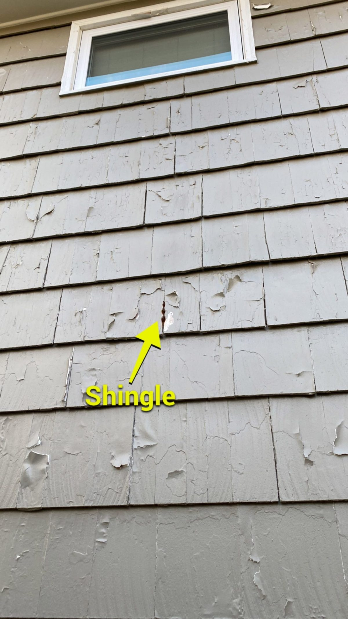 bad shingle scaled - How Much Will It Cost to Paint my Exterior - Overland Park, Lee's Summit, Kansas City Painting