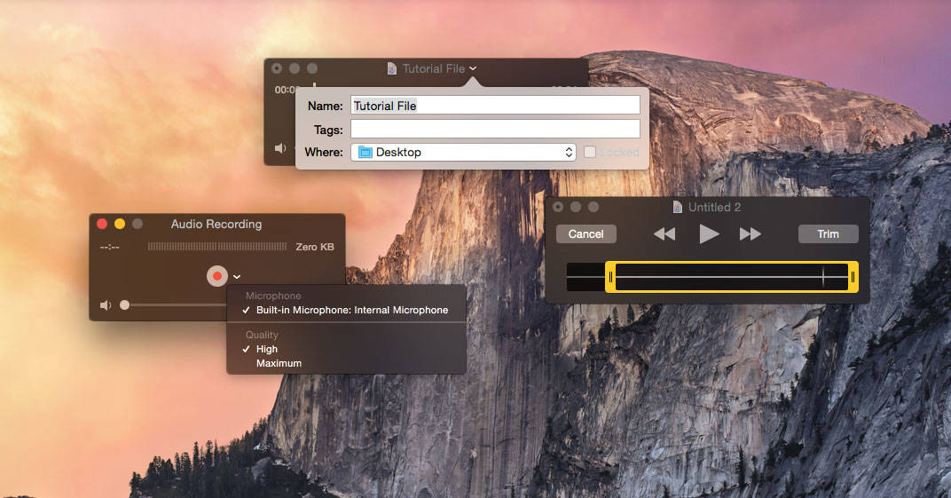 Record Audio with QuickTime Player for Mac