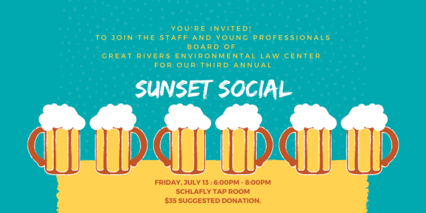 Great Rivers Environmental Law Center Sunset Social 2018