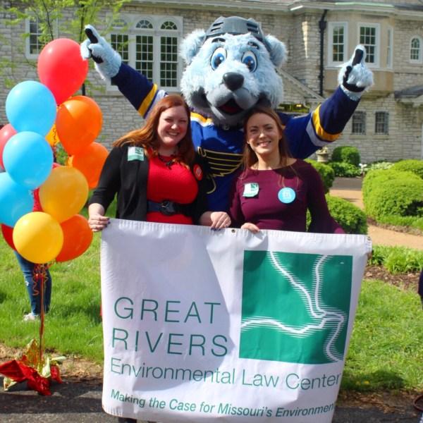 Sarah and Rachel with Louie!