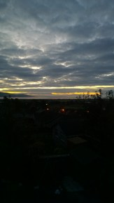 Sunrise over Wigtown.