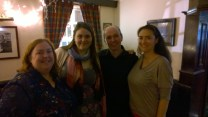 Me, S, Gillebride and Candida