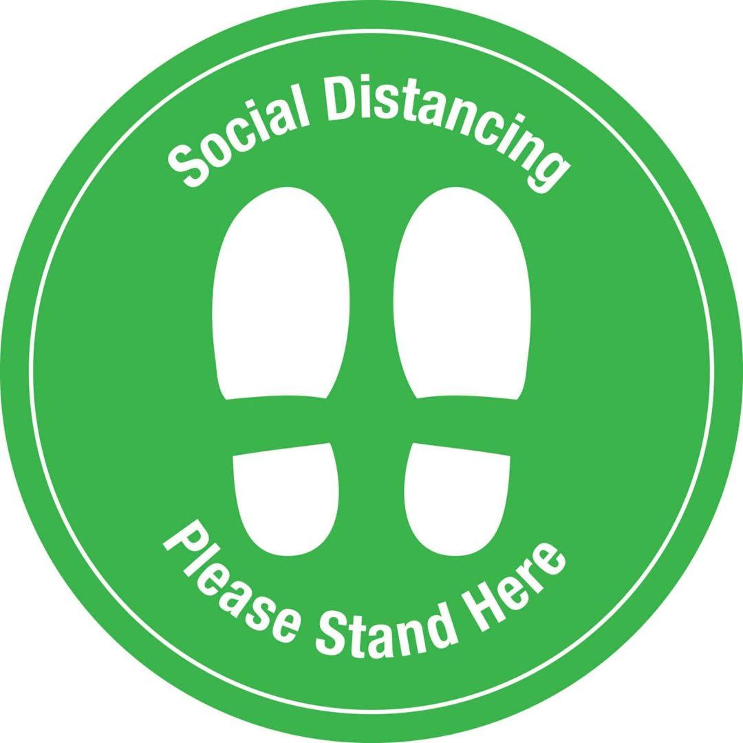 Social Distancing Decal Green