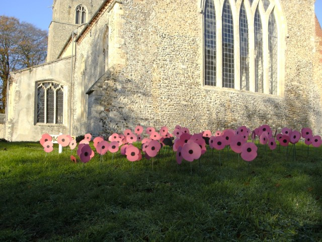 Poppies on Parade in the Churchyard