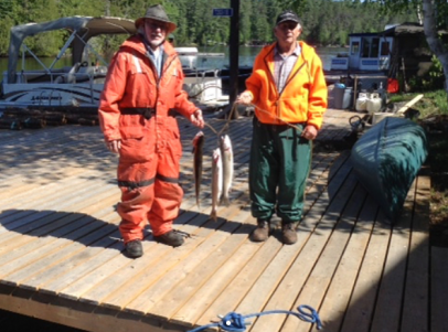 Guests with their catch of the day!