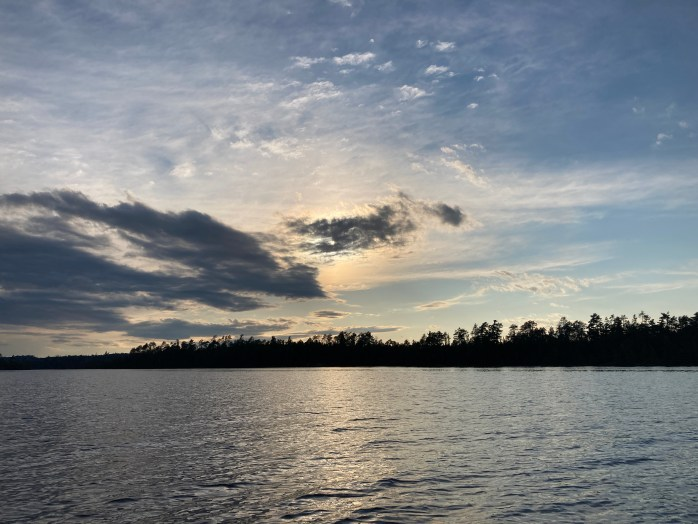 Lake Temagami allows stunning sunset photo