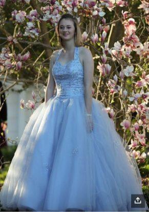 Natalie in her Great Stuff prom dress