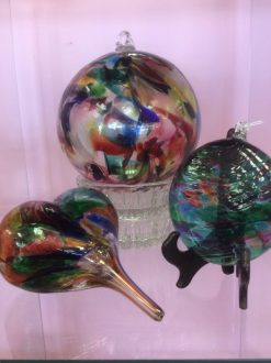 Assortment of hand blown glass