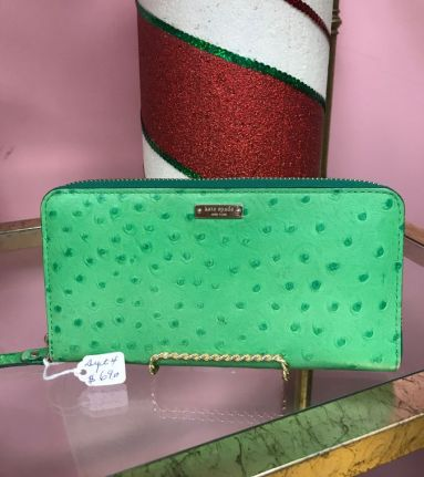 $69 Kate Spade green wallet