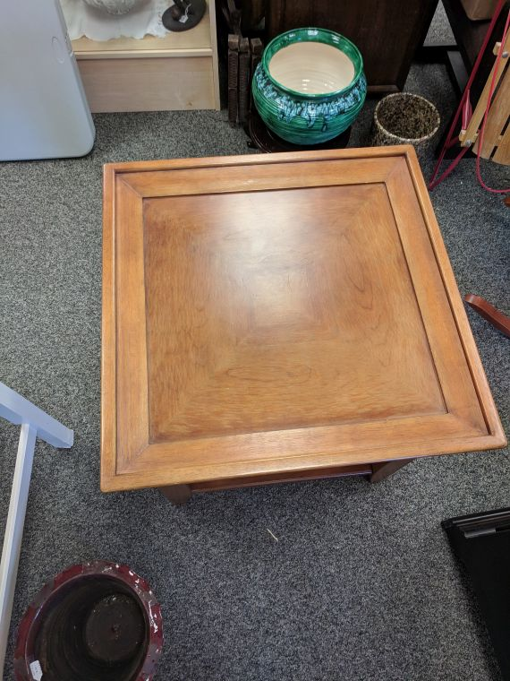 Square end table top view $85 – Great Stuff Resale – Women\'s ...