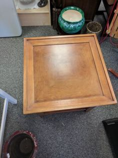 Square end table top view $85