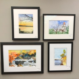 $125 to $175 - Watercolors by a former local artist