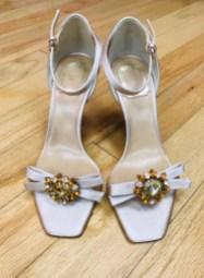 $175 Sz 7.5 Christian Dior embellished heels